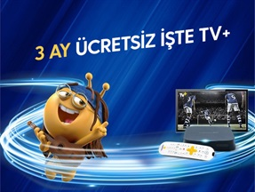 3 Ay Ücretsiz İşte TV+ Kampanyası