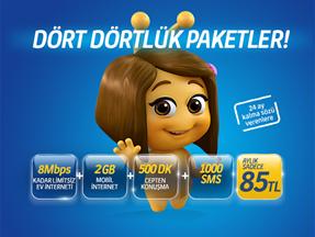 Dört Dörtlük Paketler ADSL/Yalın ADSL Kampanyası
